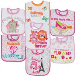 Little Beginnings Butterfly Kisses 7 Piece Bib Set