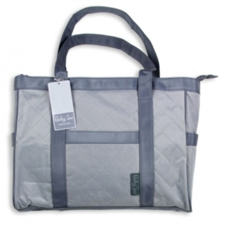 Baby Sac Grey Tote Style Diaper Bag With Shoulder Strap Houston Kids Fashion Clothing