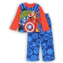 Marvel Comics Avengers Blue Pullover Top With Blue Pants 2 Piece Pajama Set