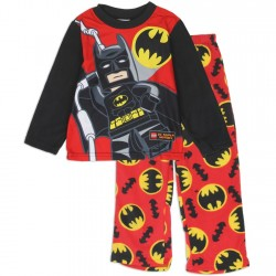 DC Comics Lego Batman Boys Pullover Top and Pants Fleece Pajama Set
