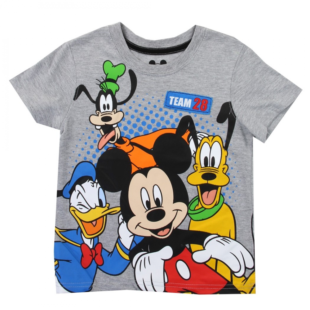 6424b5bf48 Disney Mickey Mouse And Friends Grey Toddler Boys Shirt Houston Kids  Fashion Clothing Store. Loading zoom