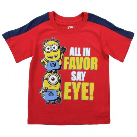 Despicable Me All In Favor Say Eye Red Toddler Boys Shirt Houston Kids Fashion Clothing Store
