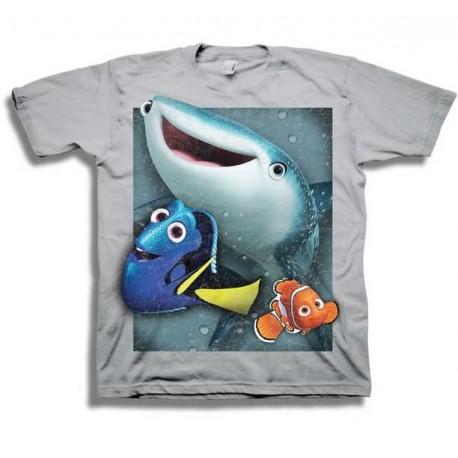 Disney Finding Dory Nemo Dory and Destiny Grey Boys Shirt Houston Kids Fashion Clothing