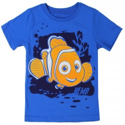 Disney Pixar Finding Dory Nemo Blue Short Sleeve Toddler Boys Shirt