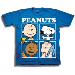 Peanuts Snoopy Charlie Brown Linus and Franklin Toddler Boys Shirt
