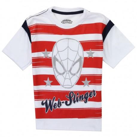 Marvel Comics Spider Man Red And White Stripe Boys Shirt Houston Kids Fashion Clothing Store