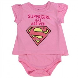DC Comics Supergirl Pink Supergirl Has Arrived T Shirt Onesie Houston Kids Fashion Clothing Store