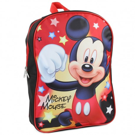 "Disney Mickey Mouse Large 15"" Backpack Perfect For Pre School Or Daycare Houston Kids Fashion Clothing Store"