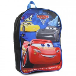 "Disney Cars 3 Cruz, Lightning McQueen and Jackson Storm 15"" Backpack Houston Kids Fashion Clothing"