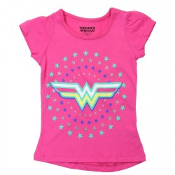 DC Comics Wonder Woman Pink Short Sleeve Shirt