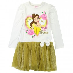 Disney Princess Belle Bold As A Rose Toddler Dress With Long Sleeves