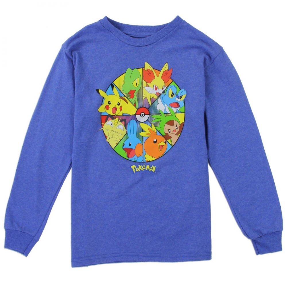 a09c03737 Pokemon Pikachu And Friends Long Sleeve Boys Shirt Houston Kids Fashion  Clothing. Loading zoom