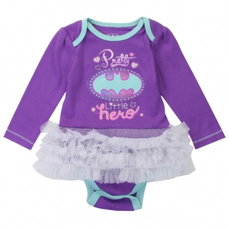 DC Comics Batgirl Pretty Little Hero Purple Tutu Onesie Houston Kids Fashion Clothing