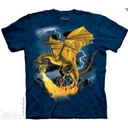 The Mountain Artwear Golden Dragon Fantasy Boys Shirt Houston Kids Fashion Clothing