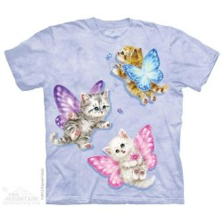 The Mountain Artwear Butterfly Kitten Fairies Girls Shirt