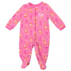Buster Brown Lil Cutie Snap Down Microfleece Coverall Footed Sleeper