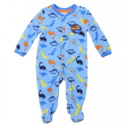 Buster Brown Dinosaur Boys Microfleece Coverall Footed Sleeper