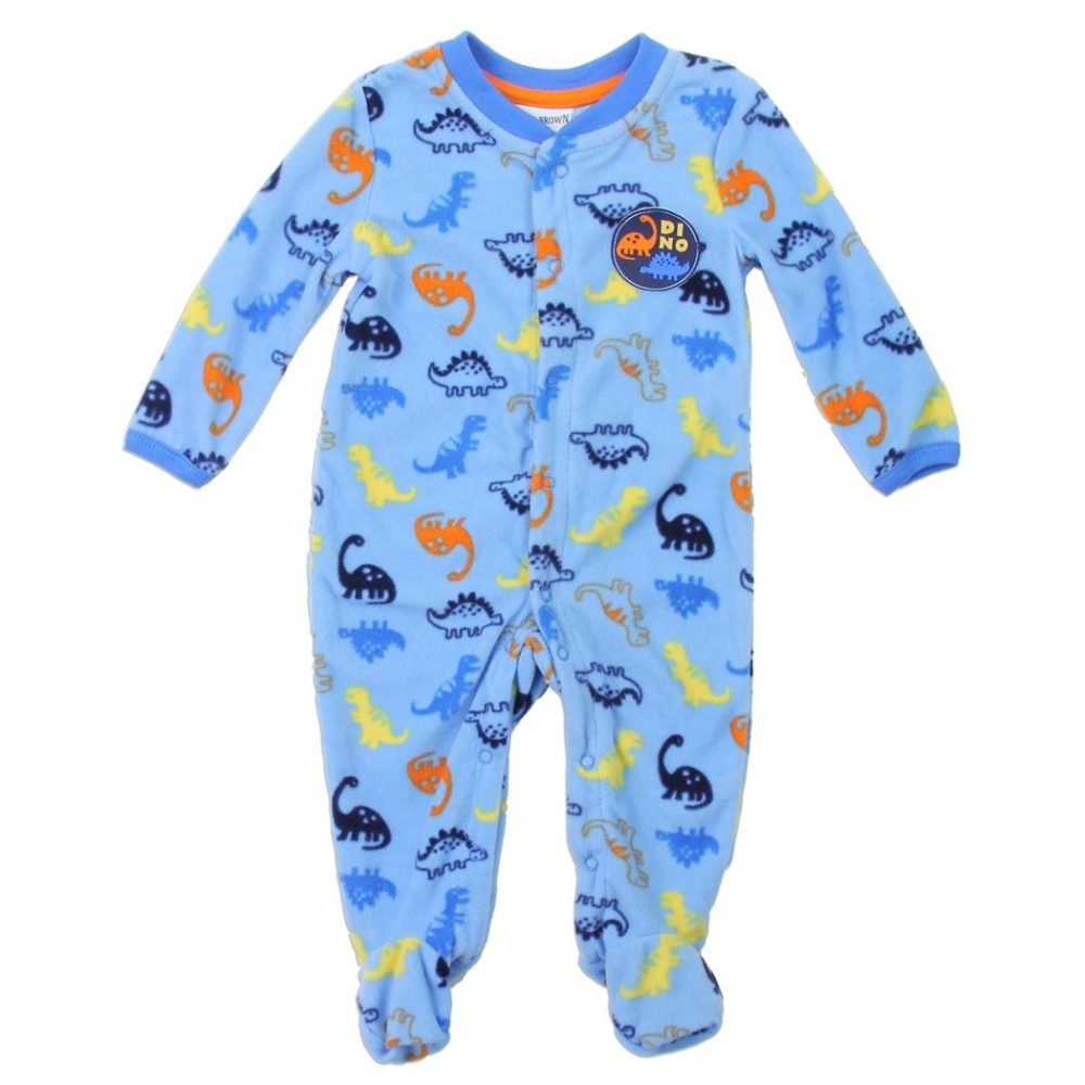 814c48180 Buster Brown Baby Boys Dinosaur Microfleece Sleeper