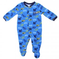 Buster Brown Dump Trucks And Tractors Microfleece Coverall Footed Sleeper