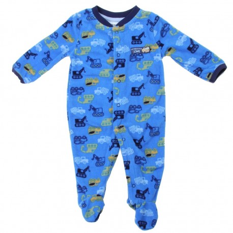 Buster Brown Dump Trucks And Tractors Microfleece Coverall Footed Sleeper Houston Kids Fashion Clothing