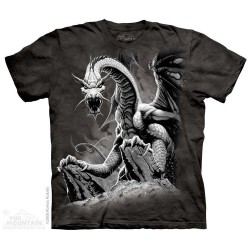 The Mountain Artwear Black Dragon Fantasy Boys Shirt