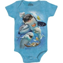 The Mountain Artwear Ocean Selfie Baby Onesie