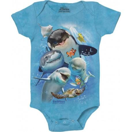 The Mountain Artwear Ocean Selfie Baby Onesie Houston Kids Fashion Clothing
