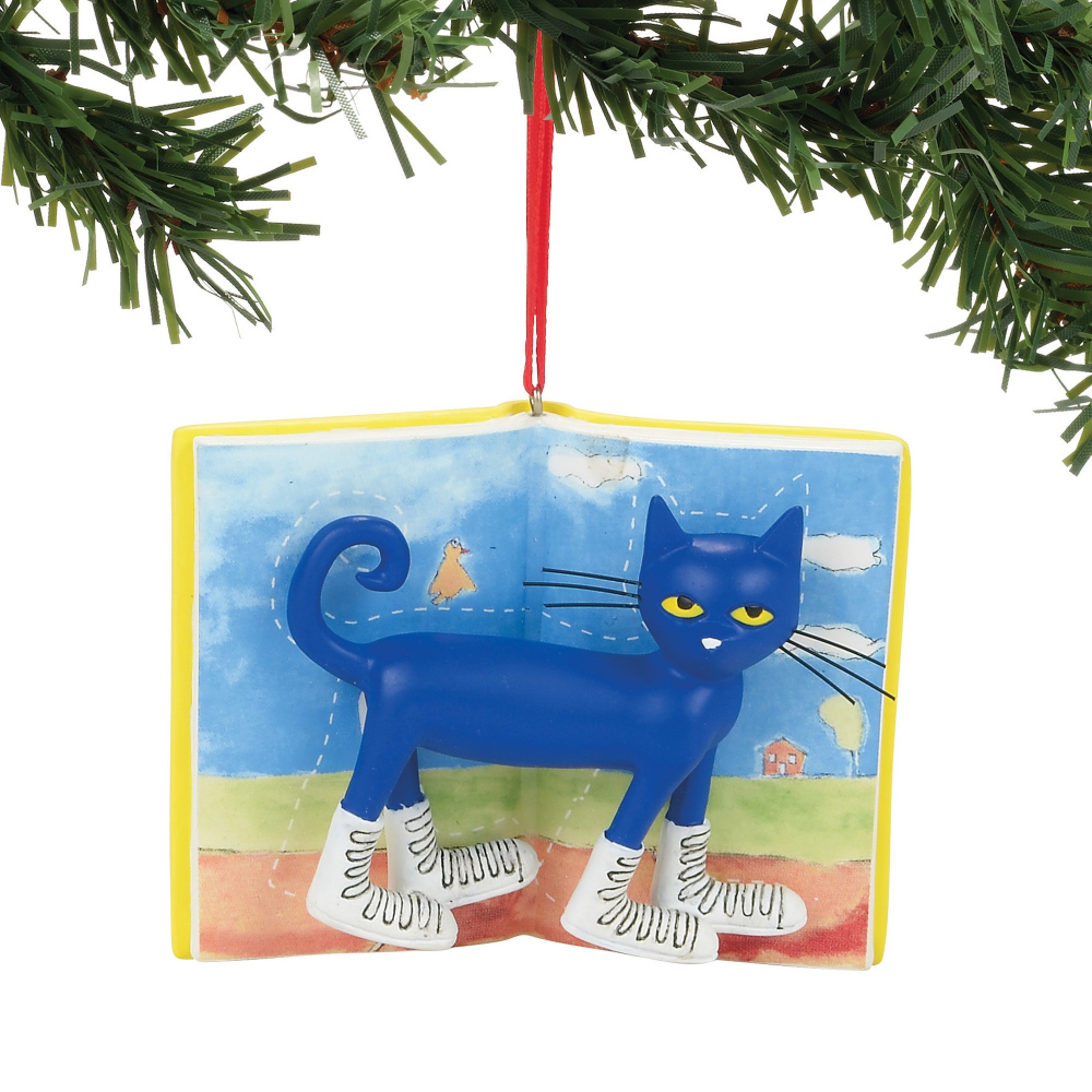 Pete The Cat Christmas.Department 56 Pete The Cat Christmas White Shoes Ornament