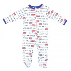 Weeplay Car Print Zip Down The Front Infant Footed Sleeper