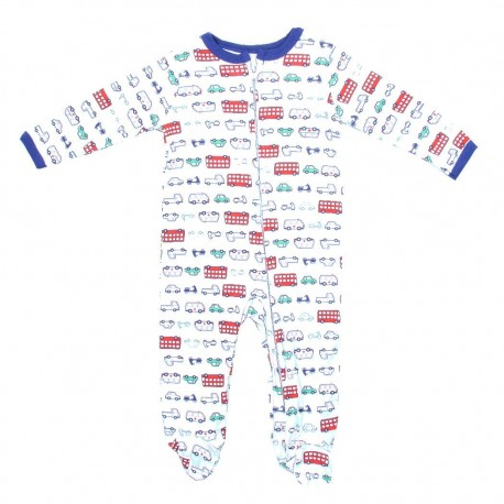 Weeplay Car Print Zip Down The Front Infant Footed Sleeper Houston Kids Fashion Clothing Store