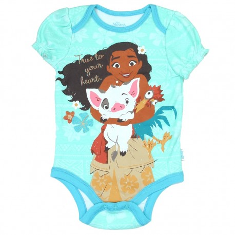 Disney Moana True To Your Heart Baby Onesie Houston Kids Fashion Clothing