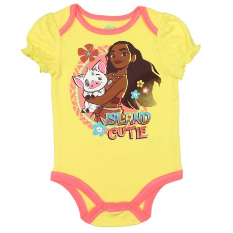Disney Moana Island Cutie Yellow Baby Onesie Houston Kids Fashion Clothing Store