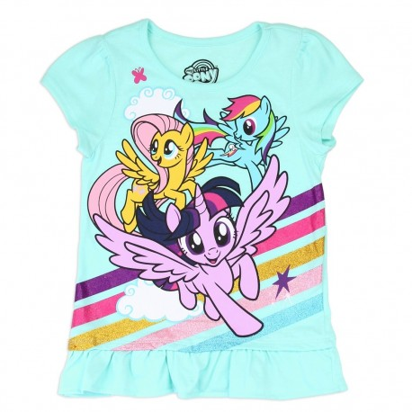 Hasbro My Little Pony Mint Girls Shirt Houston Kids Fashion Clothing Store