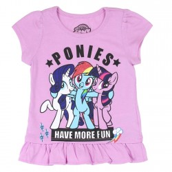 Hasbro MLP My Little Pony Ponies Have More Fun Toddler Girls Shirt Houston Kids Fashion Clothing Store