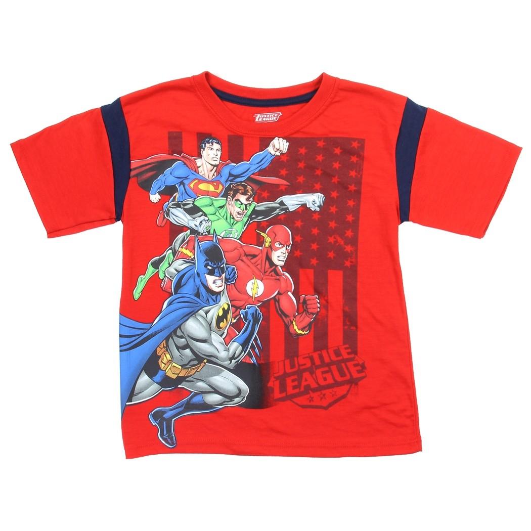 Dc Comics Justice League Red Boys Shirt Justice League
