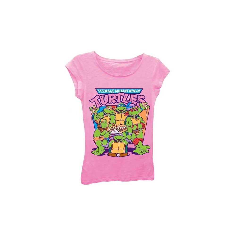 601b8b02518 Teenage Mutant Ninja Turtles Pizza Time Tee Shirt. Loading zoom