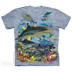 The Mountain Artwear Wicked Reef Sharks Short Sleeve Shirt Houston Kids Fashion Clothing Store