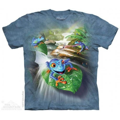 The Mountain Frog Capades Blue Frogs Short Sleeve Shirt Houston Kids Fashion Clothing Store