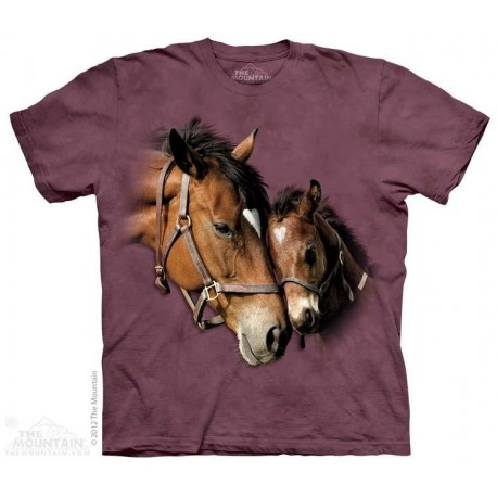 Th Mountain Artwear Two Hearts Horse Girls Shirt Houston Kids Fashion Clothing Store