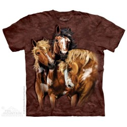 The Mountain 8 Horses Hidden Image Youth Shirt