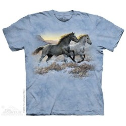 The Mountain Running Free Horse Girls Shirt