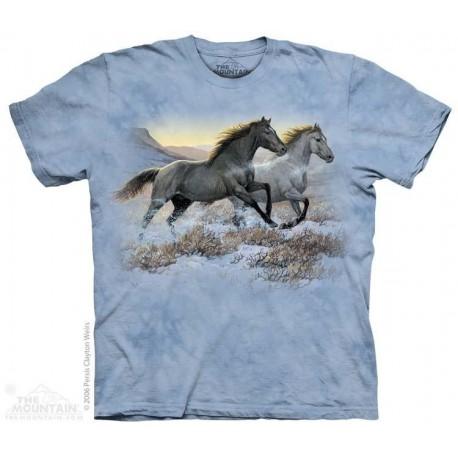 The Mountain Running Free Horse Girls Shirt Houston Kids Fashion Clothing Store