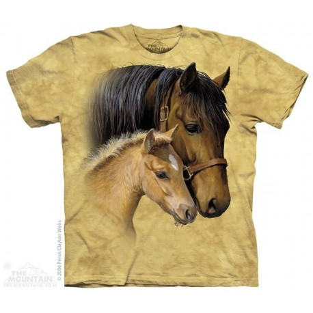 The Mountain Artwear Gentle Touch Mare And Foal Girls Shirt Houston Kids Fashion Clothing Store