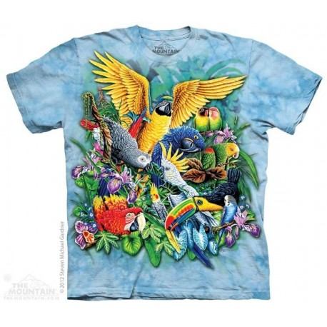 The Mountain Artwear Birds of the Tropics Macaws and Parrots Youth Shirt Houston Kids Fashion Clothing Store