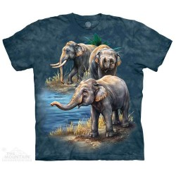 The Mountain Artwear Asian Elephants Boys Shirt