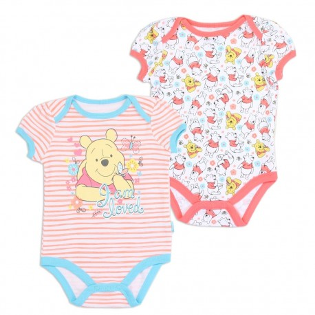 Disney Winnie The Pooh I am Loved 2 Pack Onesie Set Houston Kids Fashion Clothing Store