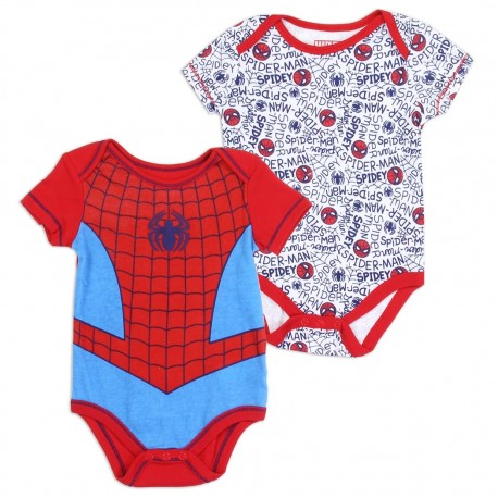 Marvel Comics Spider Man 2 Pack Onesie Set Houston Kids Fashion Clothing Store