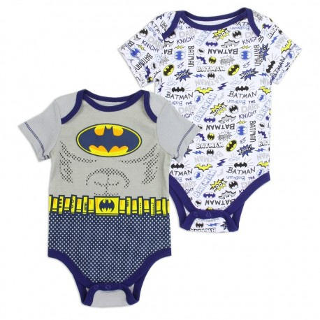 DC Comics Baby Batman 2 Pack Onesie Set Houston Kids Fashion Clothing Store