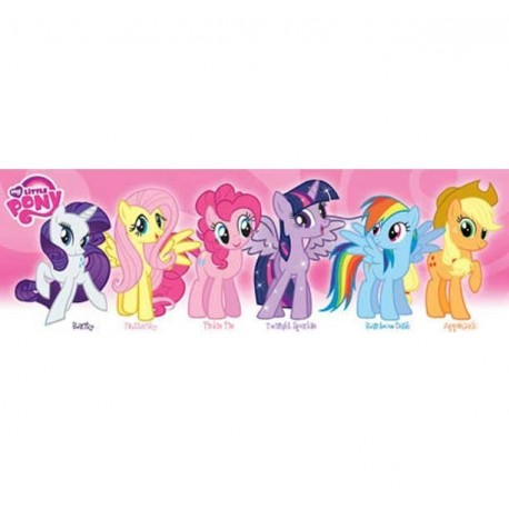 My Little Pony Slim Wall Poster With 6 Ponies Houston Kids Fashion Clothing Store