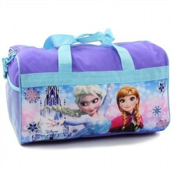 "Disney Frozen Anna and Elsa Girls 18"" Duffle Bag Houston Kids Fashion Clothing Store"